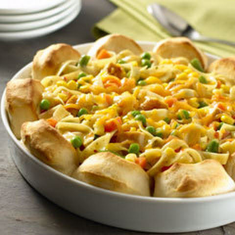 Upside-down Chicken Pot Pie