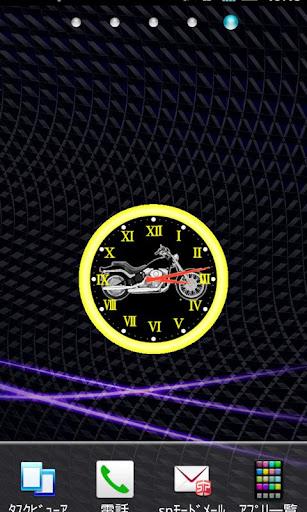 ハーレー アナログ時計ウィジェット