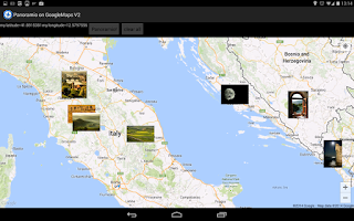 Screenshot of Panoramio on GoogleMaps V2