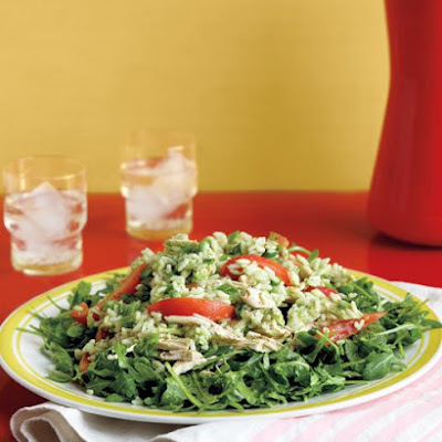 Arugula, Chicken, and Rice Salad