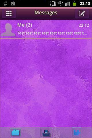 GO SMS Theme Purple Violet
