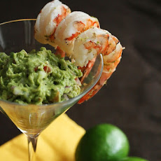 Margarita Shrimp with Grilled Avocado Guacamole