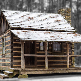 Doublewide by Roy Walter - Buildings & Architecture Other Exteriors ( snow, buildings, privy, bathroom, other exteriors )