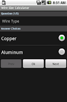 Screenshot of Wire Size Calculator