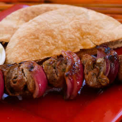 Lamb Shish Kabobs with Wheat Pita and Tzatziki Sauce