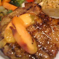 Pork Chops with a Riesling Peach Sauce