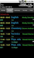 Screenshot of Teacher Timetable Helper