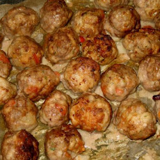 Red Bell Pepper Pork Boulettes (Meatballs)