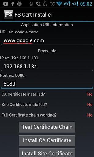 FS Cert Installer