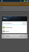 Screenshot of Carbonite Sync & Share