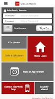 Screenshot of Wells Fargo Mobile