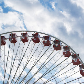 Touching sky by Jessica Williams Bender - City,  Street & Park  Amusement Parks ( chicago ferris wheel, chicago, ferris wheel )