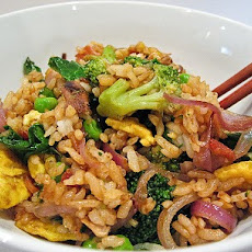 Springtime Bacon and Egg Fried Rice