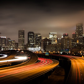 Houston Ultra-Wide by Stuart Partridge - Buildings & Architecture Homes ( skyline, stuart partridge, houston, texas, d600, utrawide, widescreen, wide, nikon, city )