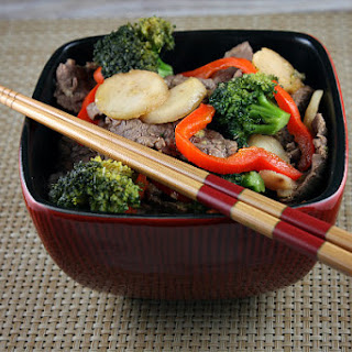 Stir Fried Beef and Broccoli with Orange- Sesame Sauce