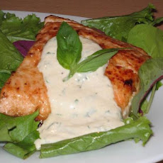 Grilled Salmon With Horseradish Sauce
