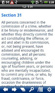 California Penal Code - screenshot