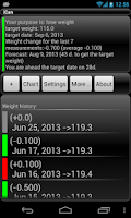 Screenshot of iCan weight manager