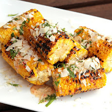 Grilled Corn with Spicy Chili Mayo, Coconut, and Fish Sauce
