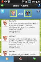 Screenshot of Liga Tweets Pro 2013/14