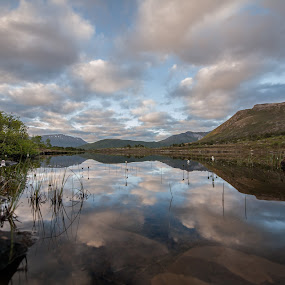 Clouds reflections over water by Benny Høynes - Landscapes Cloud Formations ( clouds, water, weather, reflections, norway )