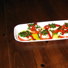 Mozzarella and Tomato Appetizer Tray
