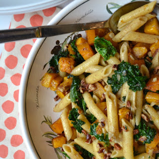 Cinnamon Penne with Butternut Squash and Kale