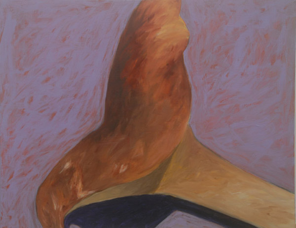 Chanterelle #2 <br> Acrylic paint on canvas <br> 22 x 40 in