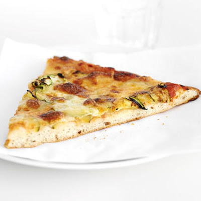 Cheesy Courgette Pizza