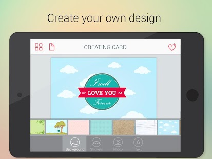 Cards Builder. Amazing e-cards- screenshot thumbnail