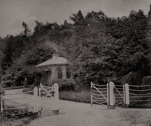 Gate lodge at Bellamont Forest House, Cootehill, Co. Cavan, 1870 (ALB 29). Gate lodges, a central component of the architectural landscape of country estates, were often designed by the leading architects of the period.