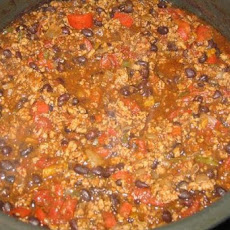 Chunky Turkey Vegetable Chili (Crock Pot)
