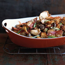 Three-Mushroom Dressing with Prosciutto