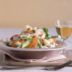Shrimp, Jícama, and Apricot Salad