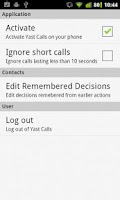 Screenshot of Yast Call Tracker