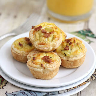 Bacon, Leek and Cheddar Mini Quiches