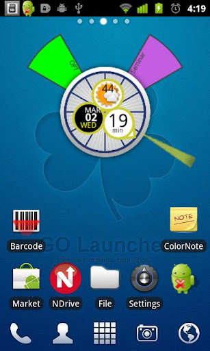 Clock Organizer Weather Trial