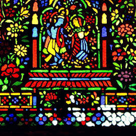 Eternal Love of Radha-Krishna by Debarshi Mukherjee - Artistic Objects Glass ( hindu mythology, love lord krishna, patterns, stained glass,  )