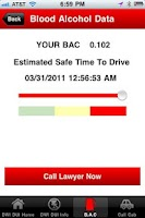 Screenshot of Accident & DUI Help - BAC Test