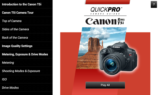 Guide to Canon T5i - screenshot