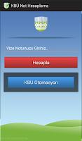 Screenshot of KBÜ Not Hesaplama