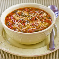Italian Sausage and Kale Soup with Whole Wheat Spaghetti Pieces