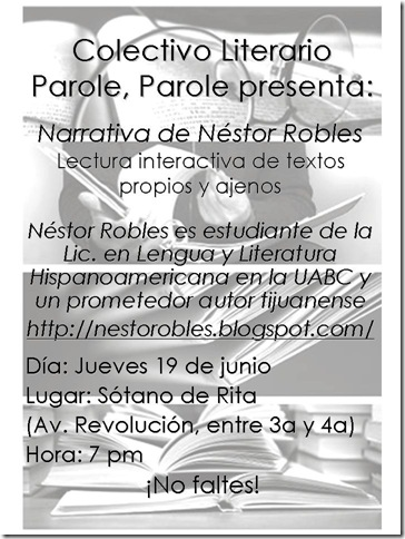 Narrativa de Néstor Robles