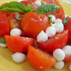 A Simple Cherry Tomato and Mozzarella Salad