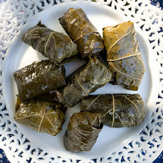 Dolmathes with Avgolemono