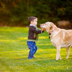 Best Friends by Sandra Clukey - Animals - Dogs Playing ( tn, sandraclukey, pets, photographer, children, cleveland,  )
