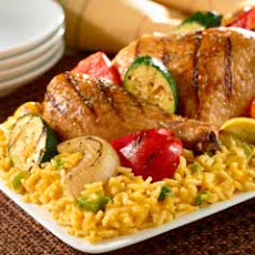 Grilled Chicken & Veggies Over Rice
