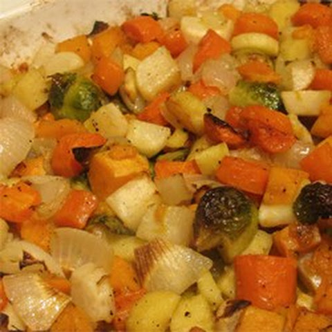 Seasoned Roasted Root Vegetables