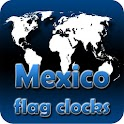 Mexico flag clocks icon