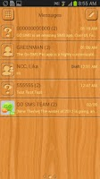 Screenshot of GO SMS Light Wood Theme